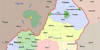 kart over kamerun Kamerun kart   Kart Kamerun (Midten Afrika   Afrika) kart over kamerun